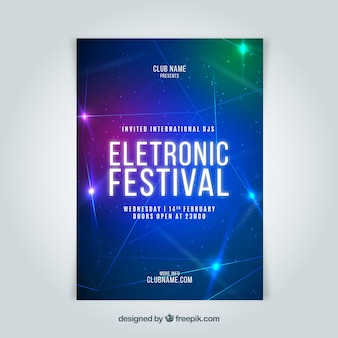 Folheto da festa de música eletrônica