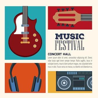 Folheto da sala de concertos do festival de música
