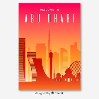 Folheto de abu dhabi