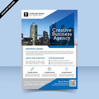 Folheto de agência de negócios criativos