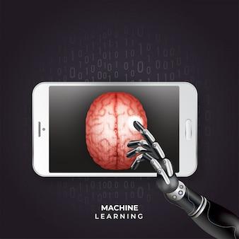 Folheto de aprendizagem de máquina ou design de cartaz