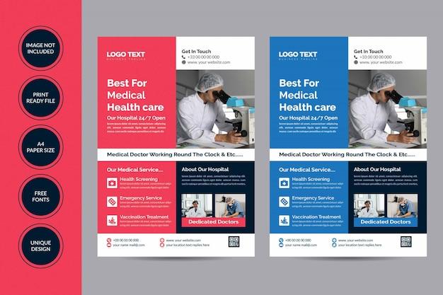 Folheto de assistência médica