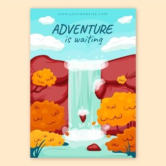 Folheto de aventura desenhado à mão