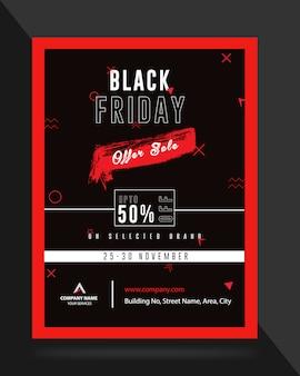 Folheto de banner de anúncio de venda de sexta-feira negra