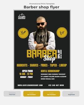 Folheto de barbearia moderno flyer