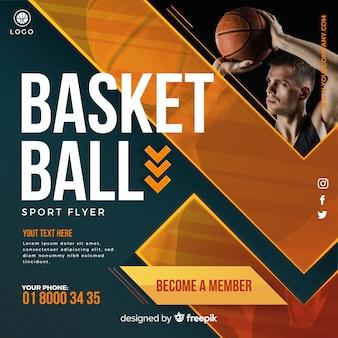 Folheto de basquete