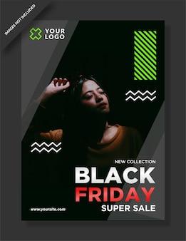 Folheto de black friday e post design de mídia social