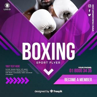 Folheto de boxe