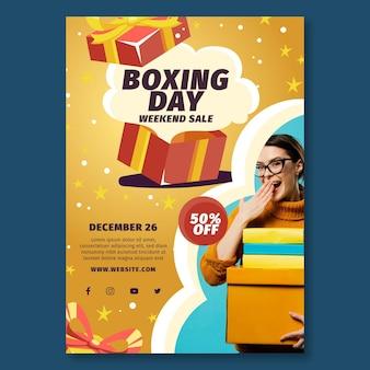 Folheto de boxing day a5 vertical
