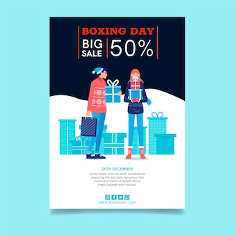 Folheto de boxing day a5 vertical