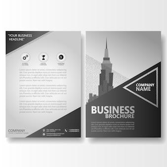 Folheto de brochura comercial