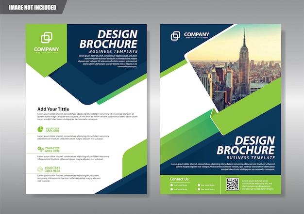 Folheto de brochura de capa ou relatório de fundo de livreto