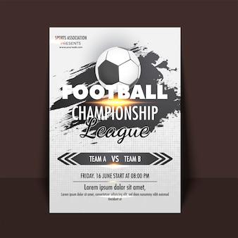 Folheto de campeonato de futebol