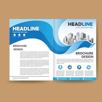 Folheto de capa de livro de design