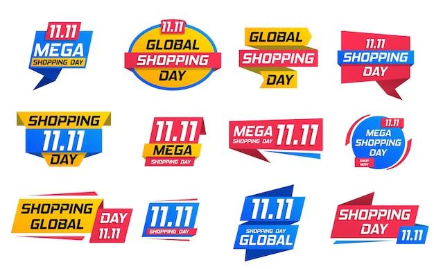 Folheto de cartaz de grande venda do dia de compras oferta especial liquidação promoções de negócios emblema de melhor oferta