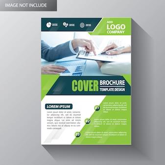 Folheto de cartaz de relatório anual de layout de folheto com forma geométrica