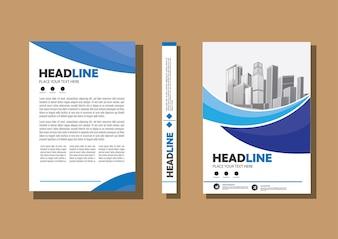 Folheto de cartaz de relatório anual de layout de folheto