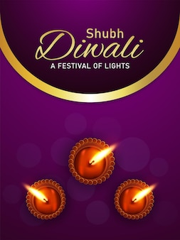 Folheto de celebração do feliz festival indiano de diwali da luz