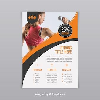 Folheto de centro de ginástica com atividades diferentes