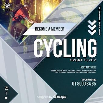 Folheto de ciclismo