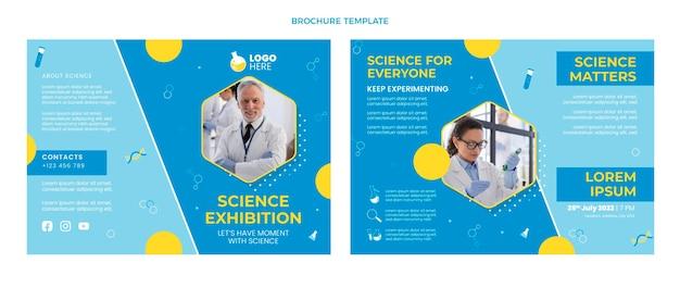 Folheto de ciência de design plano