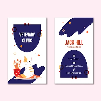 Folheto de clínica veterinária