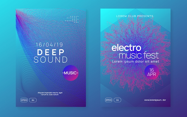 Folheto de clube de néon. electro dance music. trance party dj. electroni