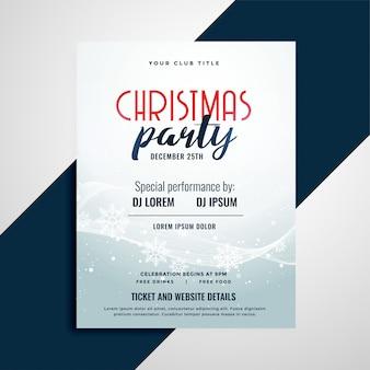 Folheto de comemoração feliz natal com espaço detalhes do evento