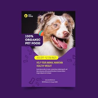 Folheto de comida animal v