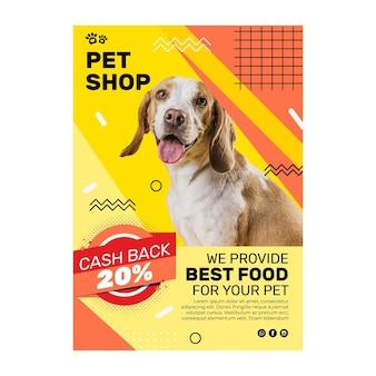 Folheto de comida animal vertical