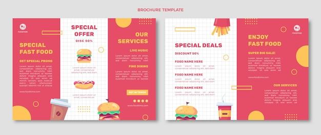 Folheto de comida de design plano