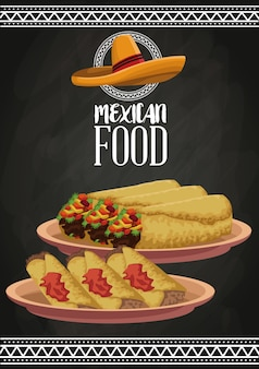 Folheto de comida mexicana