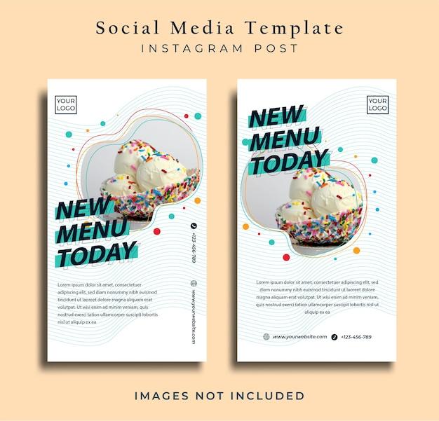 Folheto de comida minimalista ou banner de mídia social premium vector