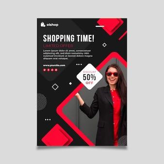 Folheto de compras online vertical