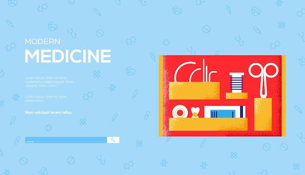 Folheto de conceito, banner da web, cabeçalho da interface do usuário, insira o site ..