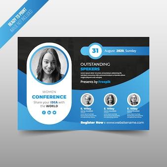 Folheto de conferência de mulheres