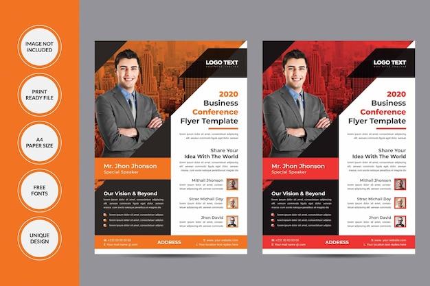 Folheto de conferência de negócios