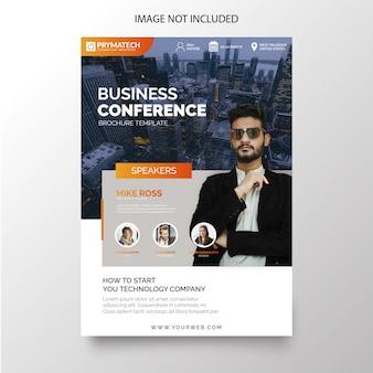 Folheto de conferência empresarial moderno
