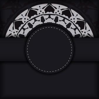 Folheto de cor preta com padrão indiano