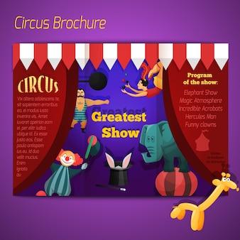 Folheto de desempenho circus