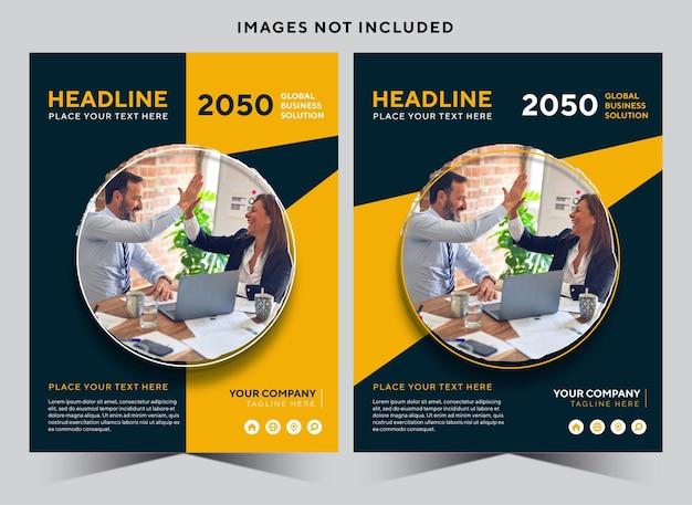 Folheto de design de modelo abstrato de vetor para empresas