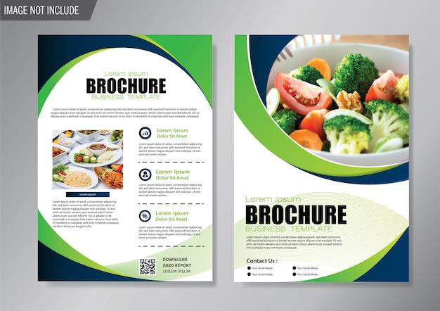 Folheto de design e brochura modelo de negócios para o relatório anual