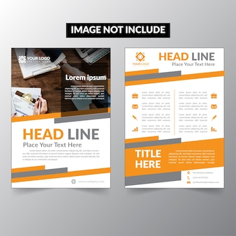 Folheto de design, livro de capa e revista