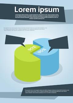 Folheto de diagrama de gráfico de cilindro financeiro de negócios