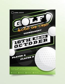 Folheto de esporte de golfe