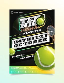Folheto de esporte de tênis