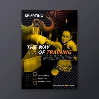 Folheto de esporte e tecnologia vertical