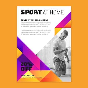 Folheto de esporte em casa v