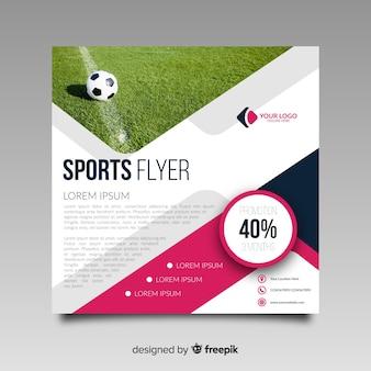 Folheto de esporte