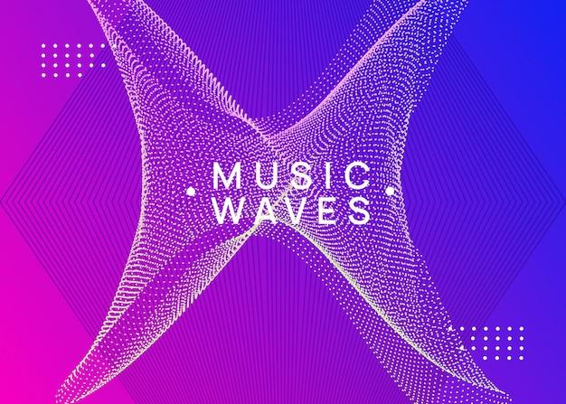 Folheto de evento de neon techno. electro dance music. som eletrônico.